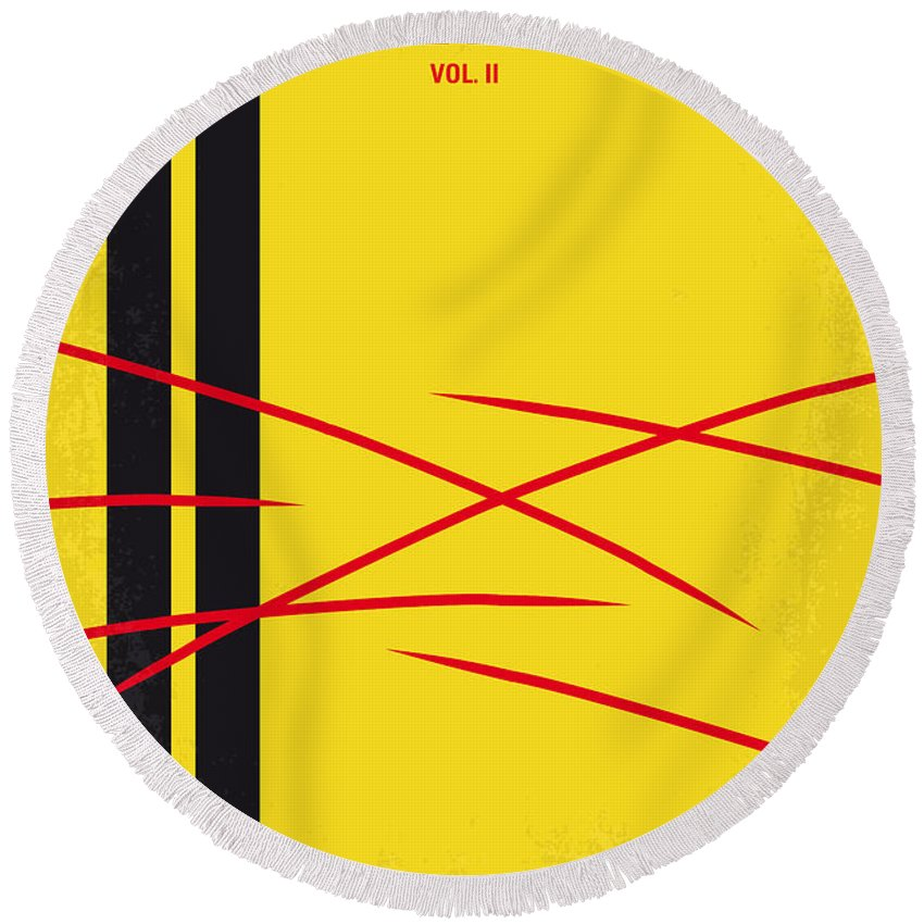 Kill Bill Round Beach Towel featuring the digital art No049 My Kill Bill-part2 Minimal Movie Poster by Chungkong Art