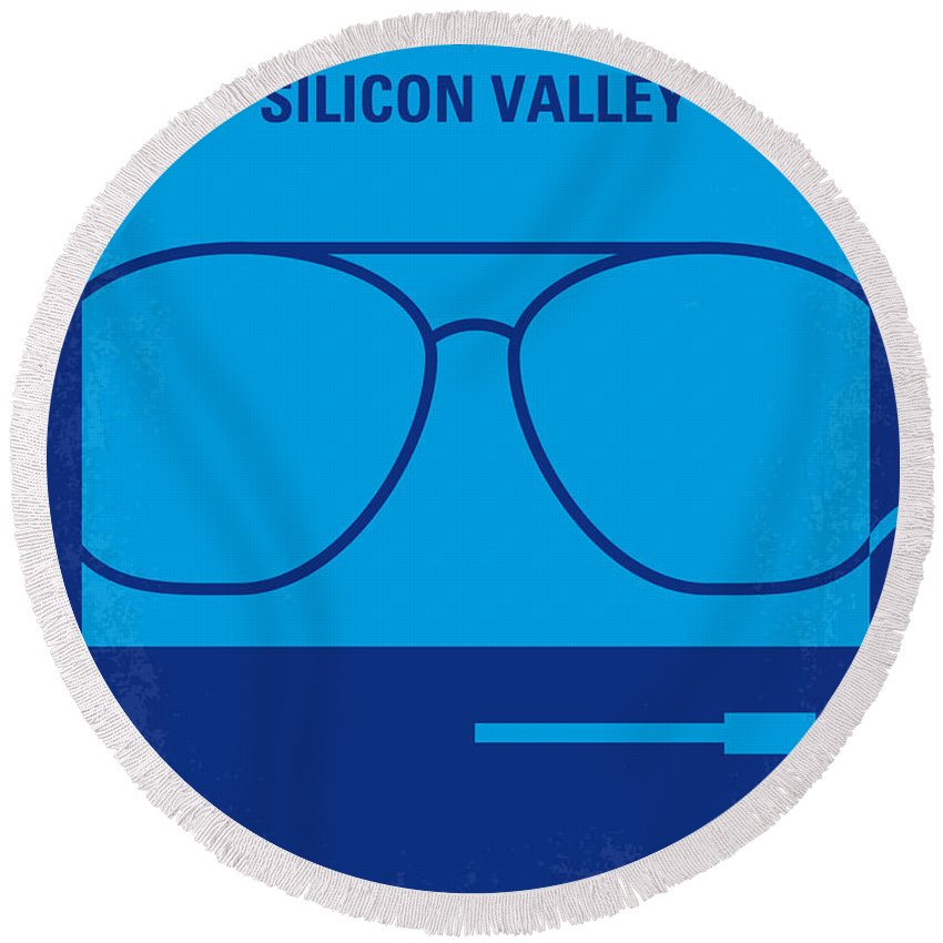 Pirates Round Beach Towel featuring the digital art No064 My Pirates Of Silicon Valley Minimal Movie Poster by Chungkong Art