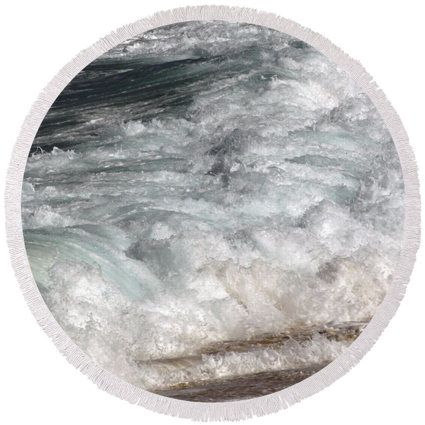 Round Beach Towel featuring the photograph North Beach, Oahu II by Kenneth Campbell