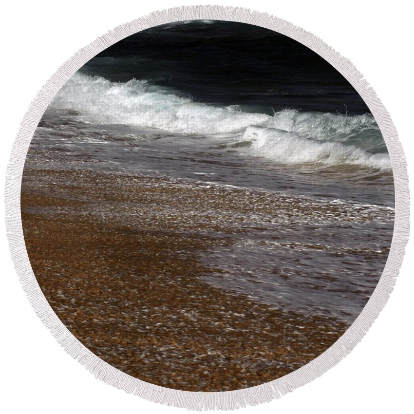 Round Beach Towel featuring the photograph North Beach, Oahu IIi by Kenneth Campbell