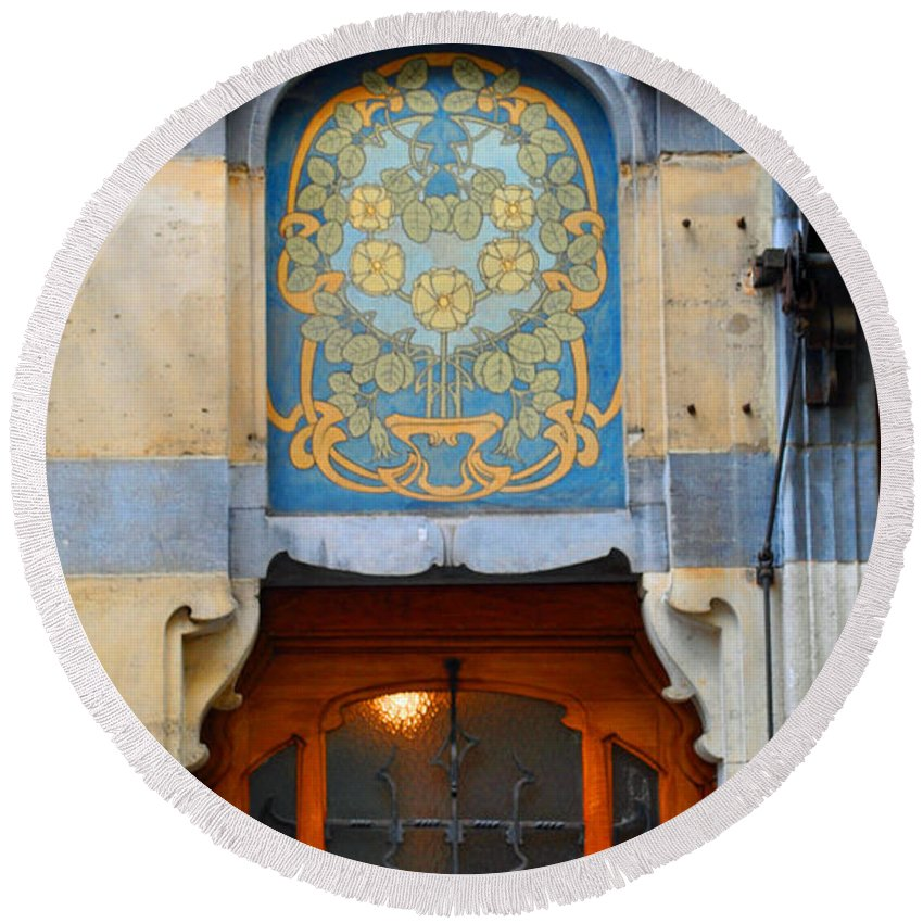 Brussels Round Beach Towel featuring the photograph Nouveau Number Five by Jost Houk
