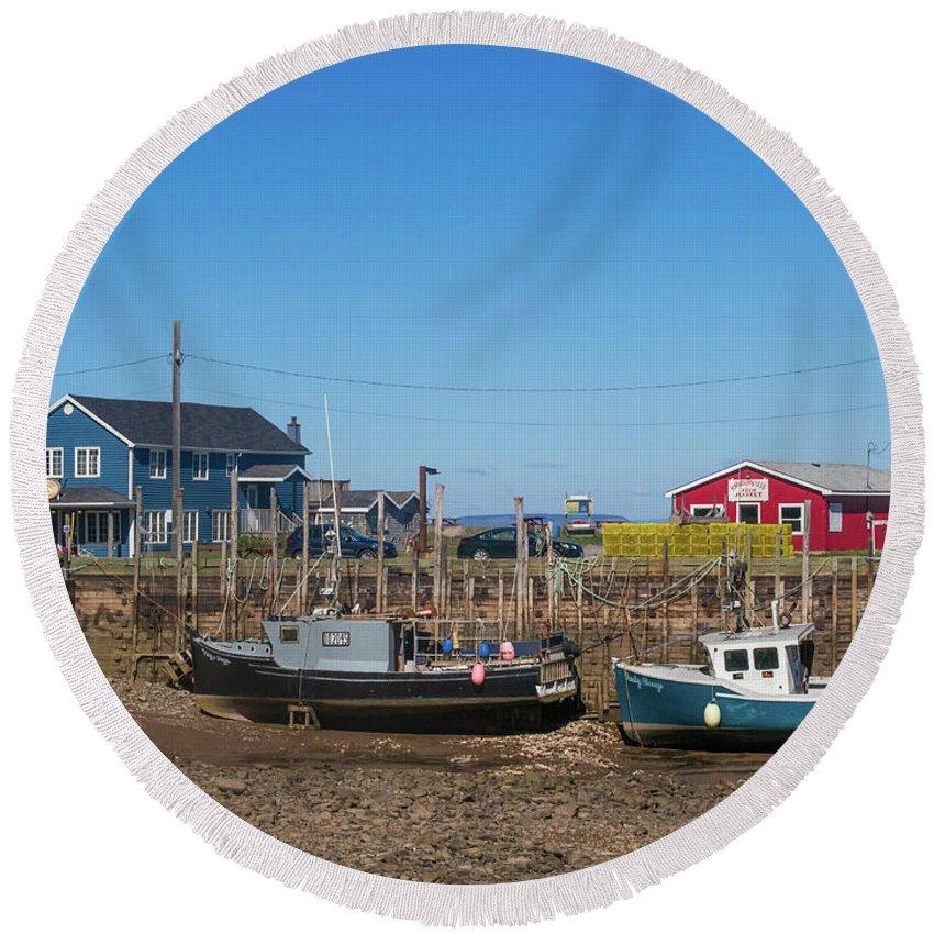 Nova Scotia Round Beach Towel featuring the photograph Nova Scotia, Canada by Trace Kittrell