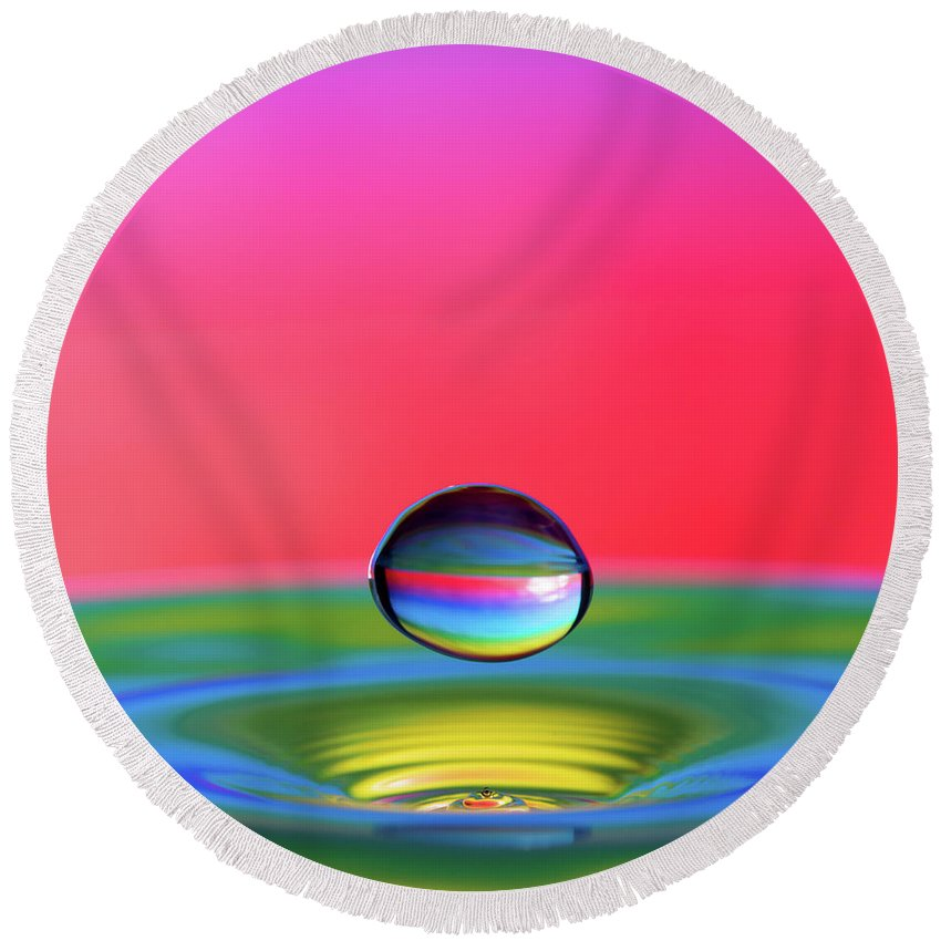 High Speed Round Beach Towel featuring the photograph Nucleus by Motty Henoch