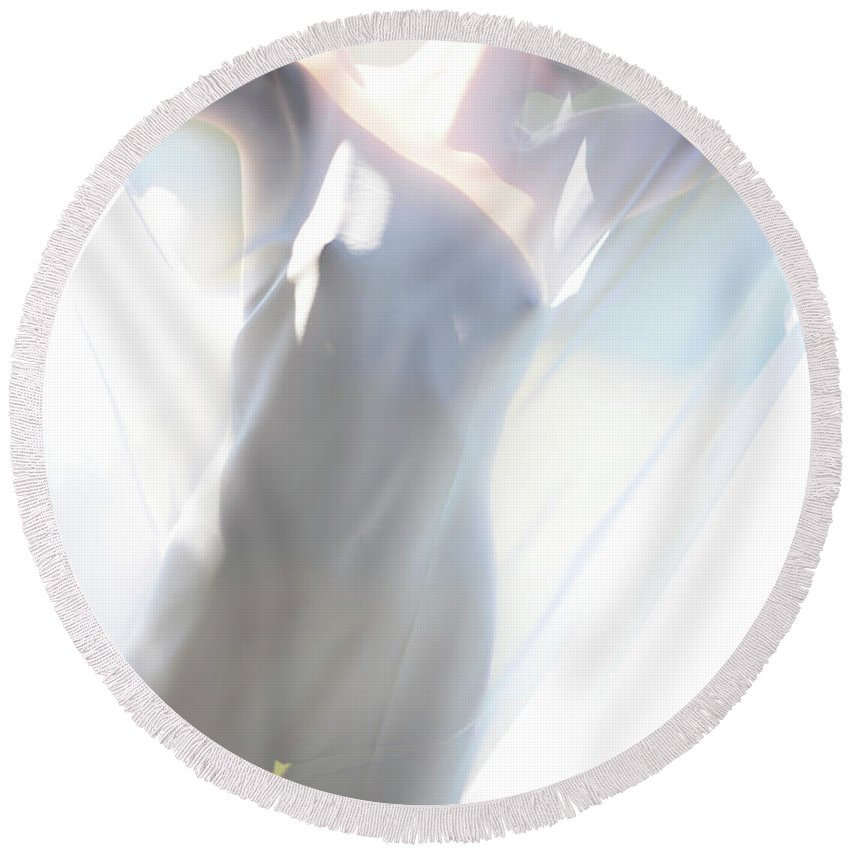 Round Beach Towel featuring the photograph Ethereal Beauty by Adele Aron Greenspun