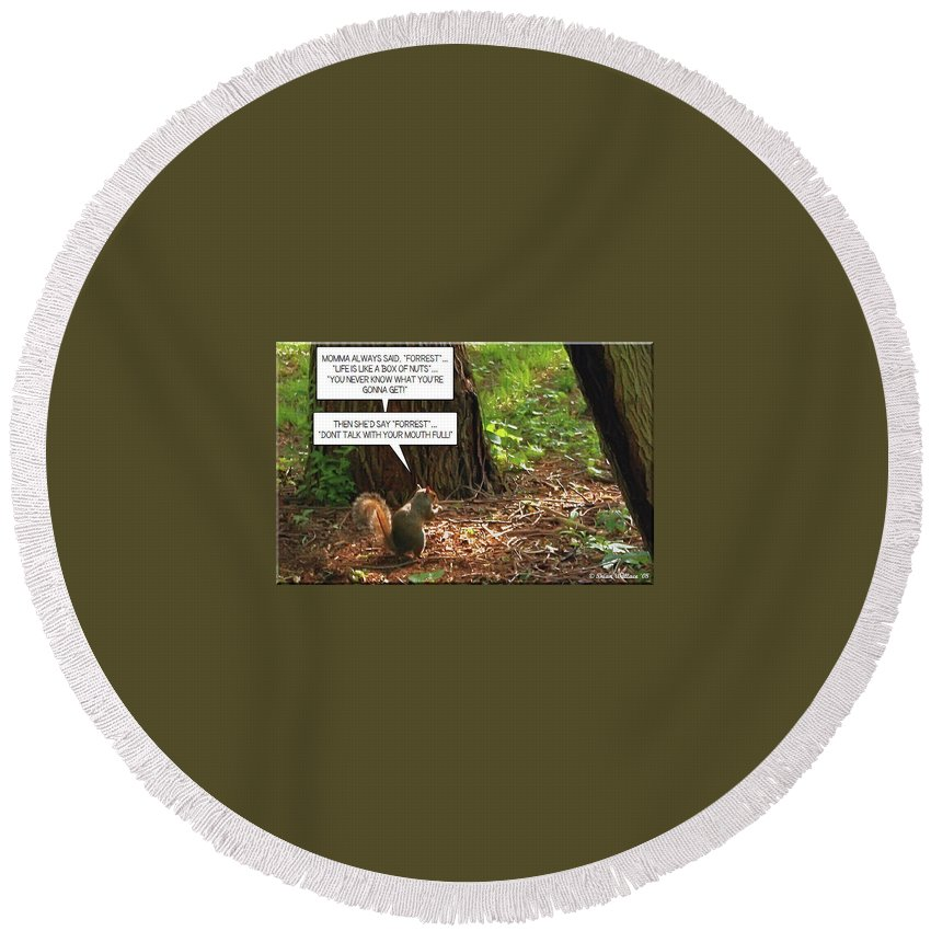 2d Round Beach Towel featuring the photograph Nuts by Brian Wallace