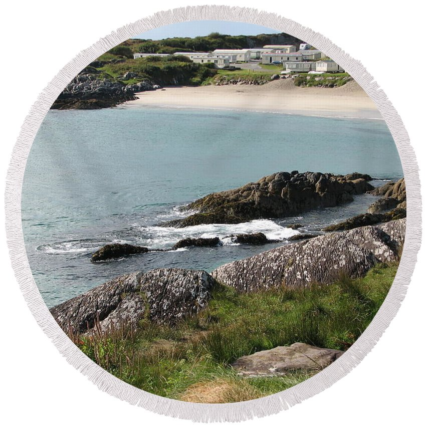 Kerry Round Beach Towel featuring the photograph O'carrol's Cove by Kelly Mezzapelle