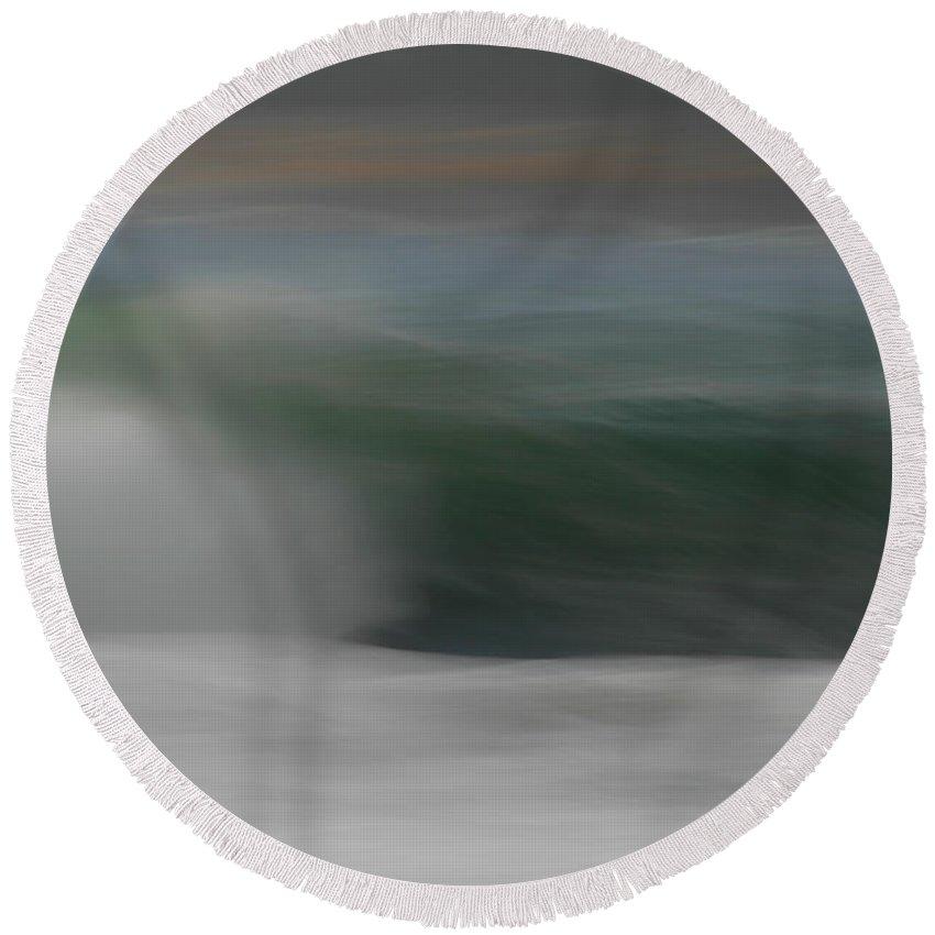 Ocean Round Beach Towel featuring the photograph Ocean Breeze by Donna Blackhall