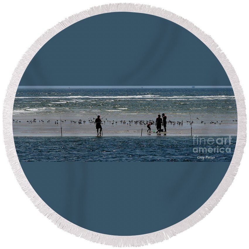Atlantic Ocean Round Beach Towel featuring the photograph Ocean Way by Greg Patzer