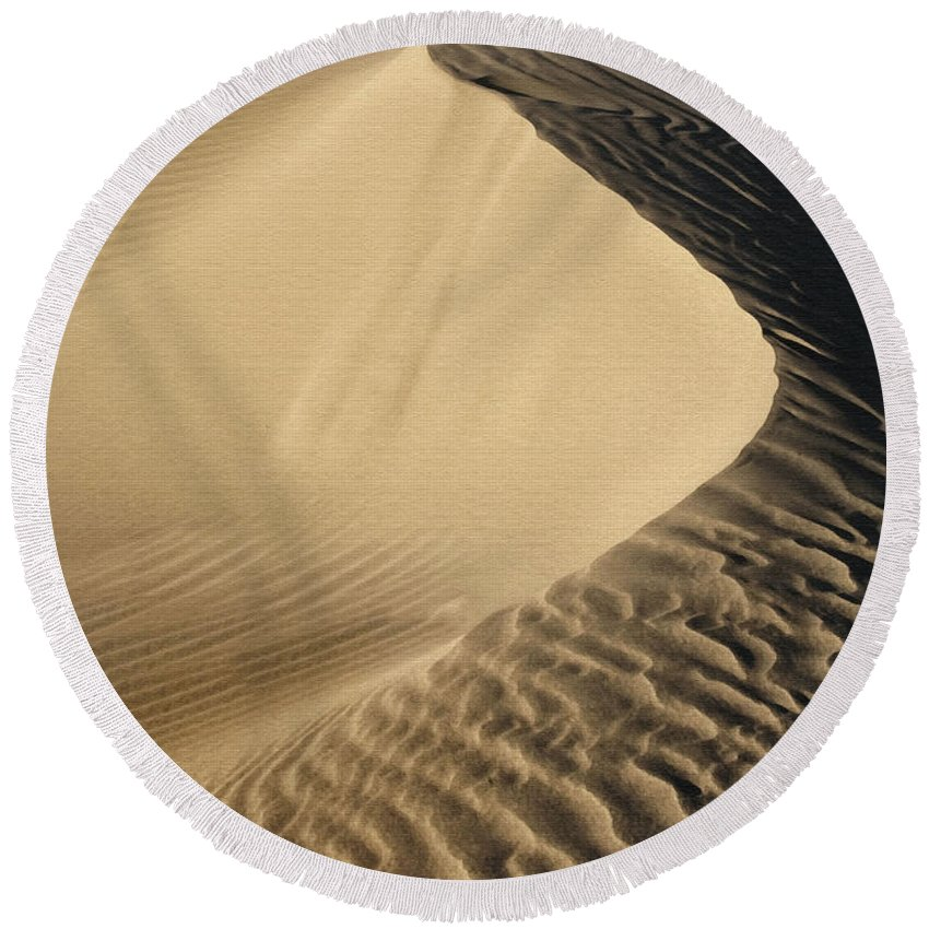 Sand Dunes Round Beach Towel featuring the photograph Oceano Dunes II by Sharon Foster