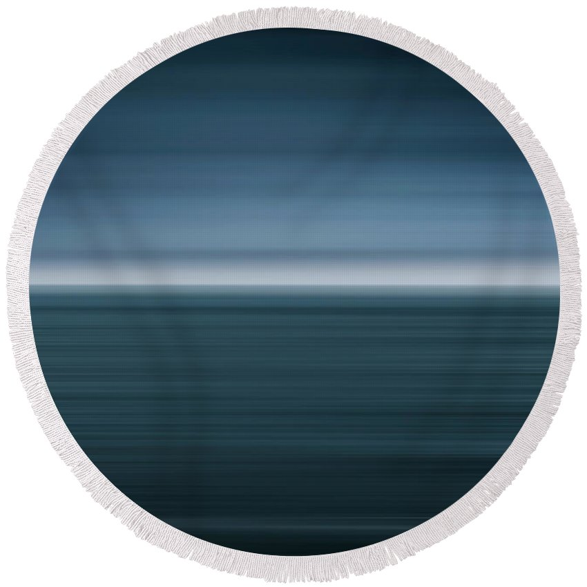 Seascape Round Beach Towel featuring the photograph Of The Sea by David Lichtneker