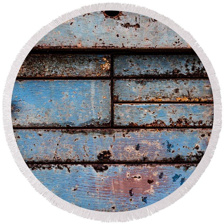 Blue Round Beach Towel featuring the photograph Old Blue by Edie Ann Mendenhall
