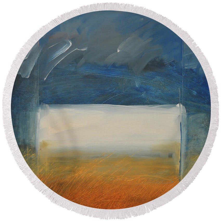 Rothko Round Beach Towel featuring the painting Old MacRothko had a Farm by Tim Nyberg