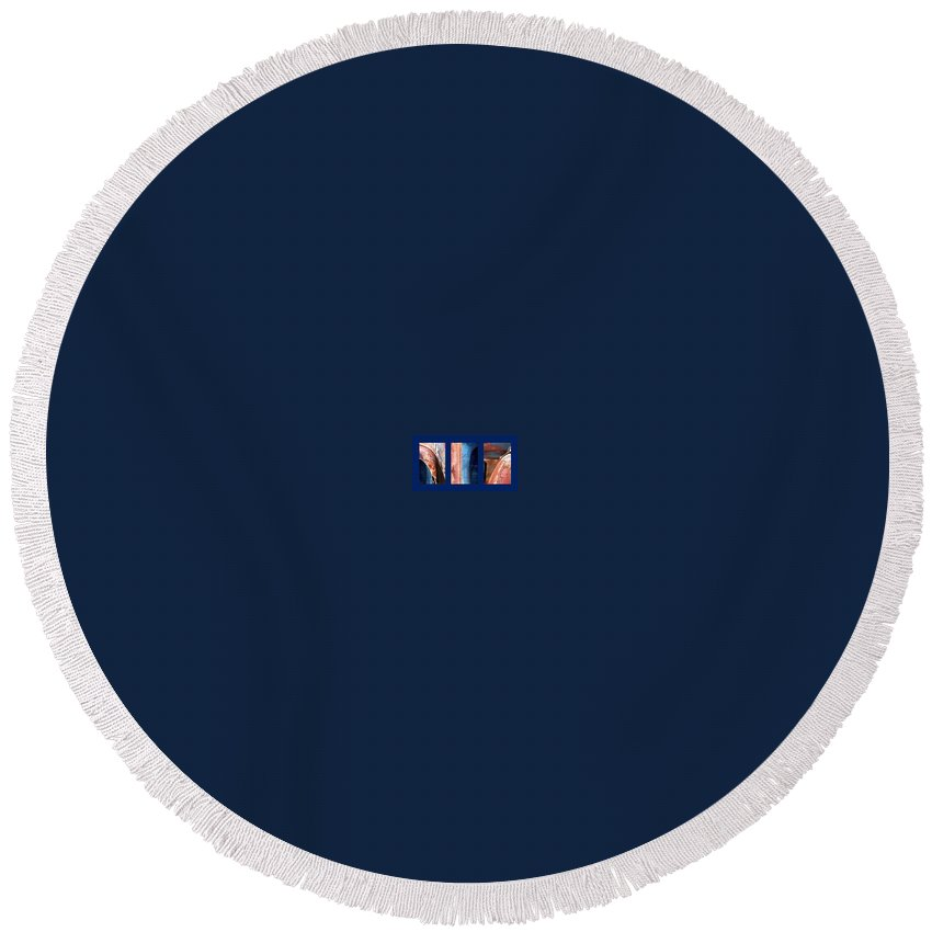 Abstract Round Beach Towel featuring the photograph Ole Bill by Steve Karol