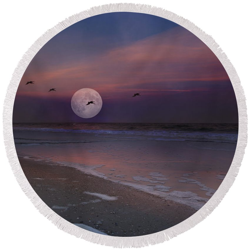 Topsail Round Beach Towel featuring the photograph One In A Million by Betsy Knapp