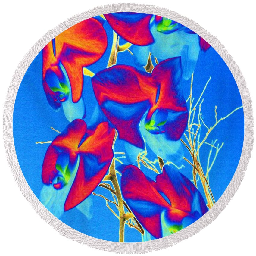 Orchid Round Beach Towel featuring the photograph Orchid 1 by Tim Allen