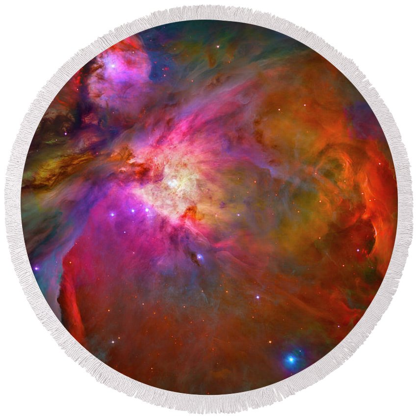 Orion Nebula Round Beach Towel featuring the photograph Orion Nebula by Paul W Faust - Impressions of Light
