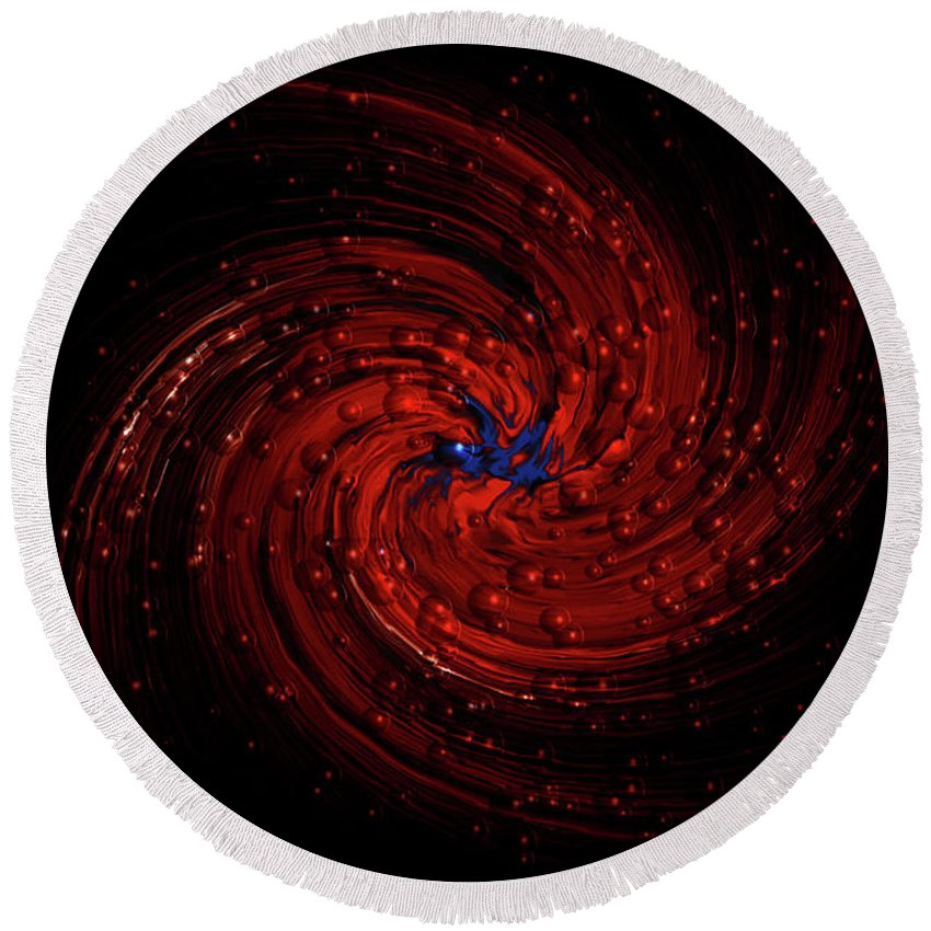 Digitalimage Round Beach Towel featuring the digital art Orion by Tony Svensson