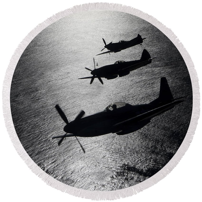 British Armed Forces Photographs Round Beach Towels