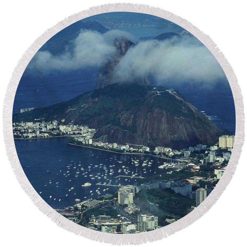 South America Round Beach Towel featuring the photograph Pan De Azucar - Rio De Janeiro by Juergen Weiss
