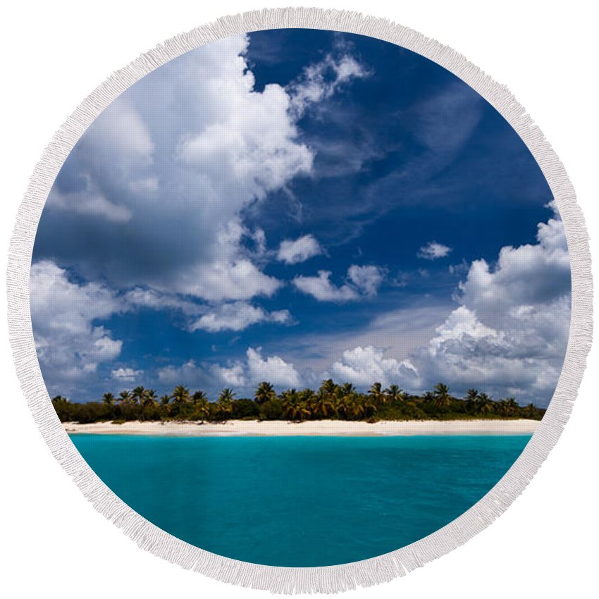 3scape Round Beach Towel featuring the photograph Paradise Is Sandy Cay by Adam Romanowicz