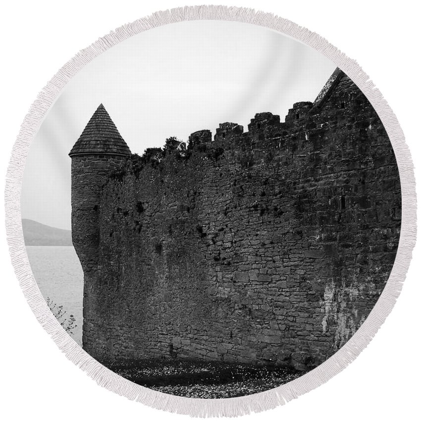 Ireland Round Beach Towel featuring the photograph Parkes Castle County Leitrim Ireland by Teresa Mucha
