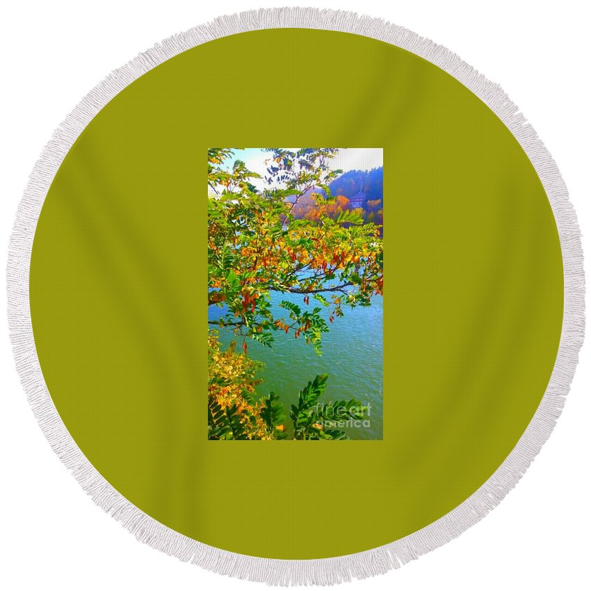 Round Beach Towel featuring the photograph Parted By The Wind by Alexandra Felecan
