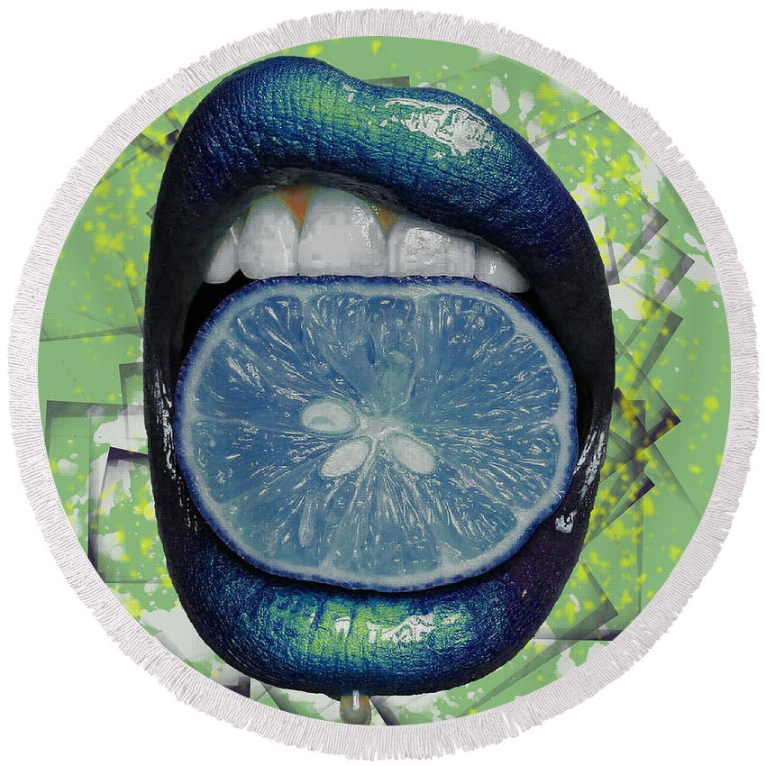 Woman Round Beach Towel featuring the photograph Passion Fruit by Derron Ridley