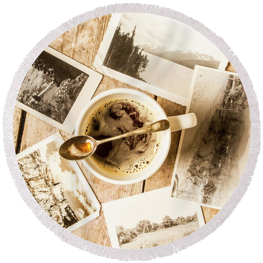 Old Round Beach Towel featuring the photograph Past Time Tea by Jorgo Photography - Wall Art Gallery