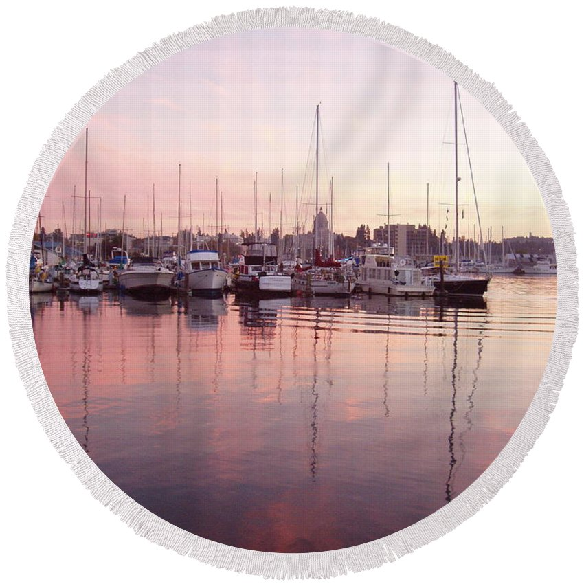 Pastel Round Beach Towel featuring the photograph Pastel Waters by Deborah Crew-Johnson