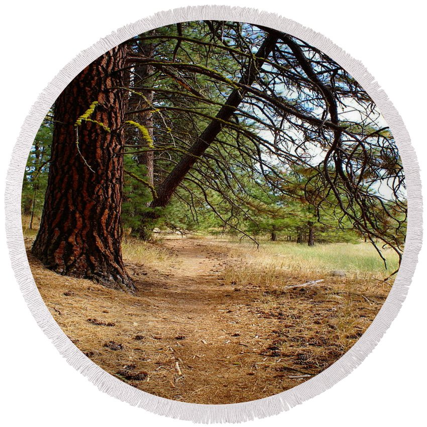 Nature Round Beach Towel featuring the photograph Path To Enlightenment 1 by Ben Upham III