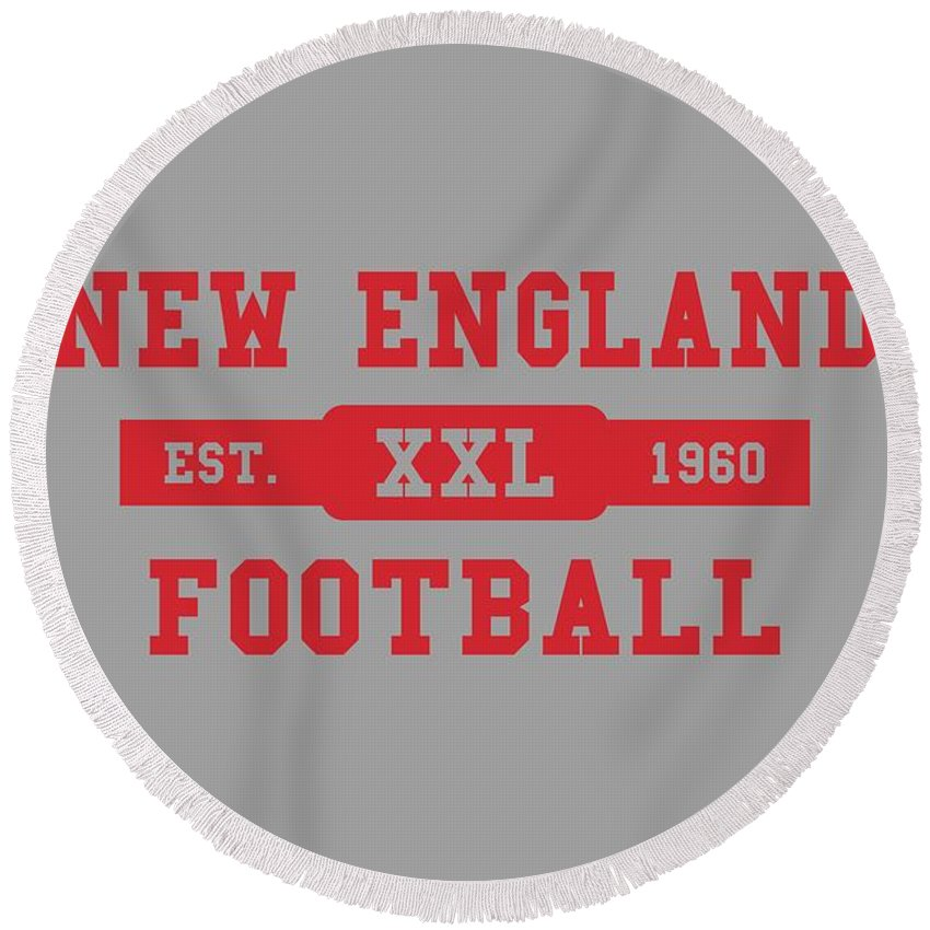 Patriots Round Beach Towel featuring the photograph Patriots Retro Shirt by Joe Hamilton