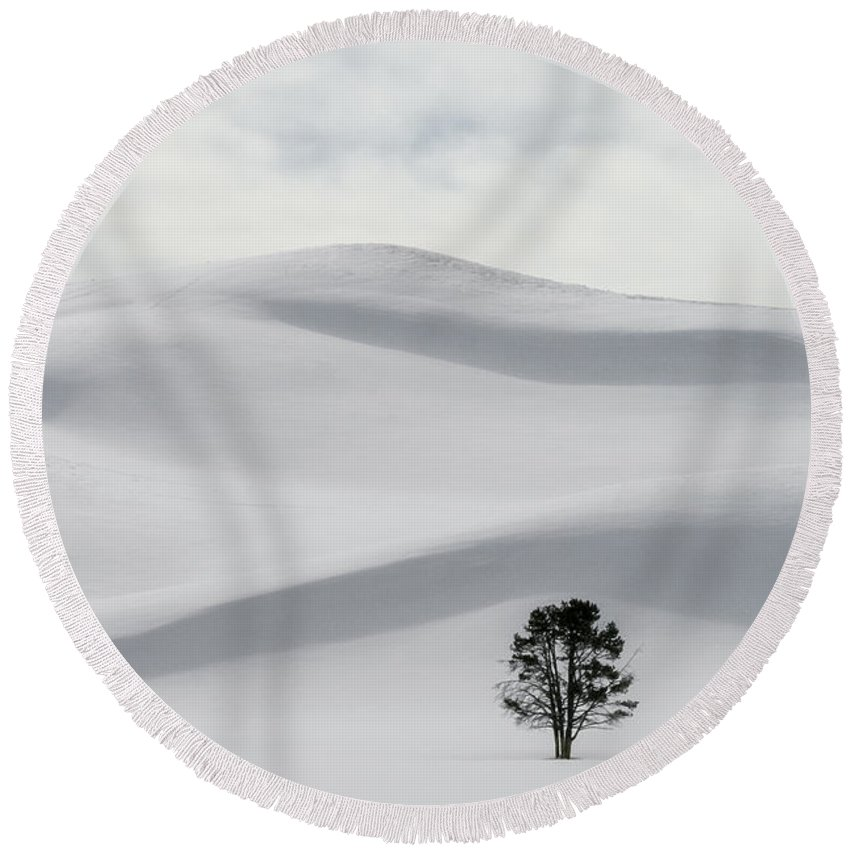 Peace On Earth Round Beach Towel featuring the photograph Peace On Earth by Wes and Dotty Weber