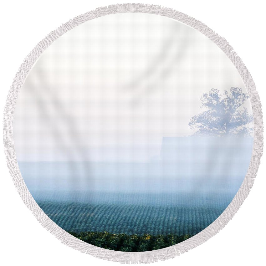 Morning Round Beach Towel featuring the photograph Peaceful Dreams by Jeff Sebaugh