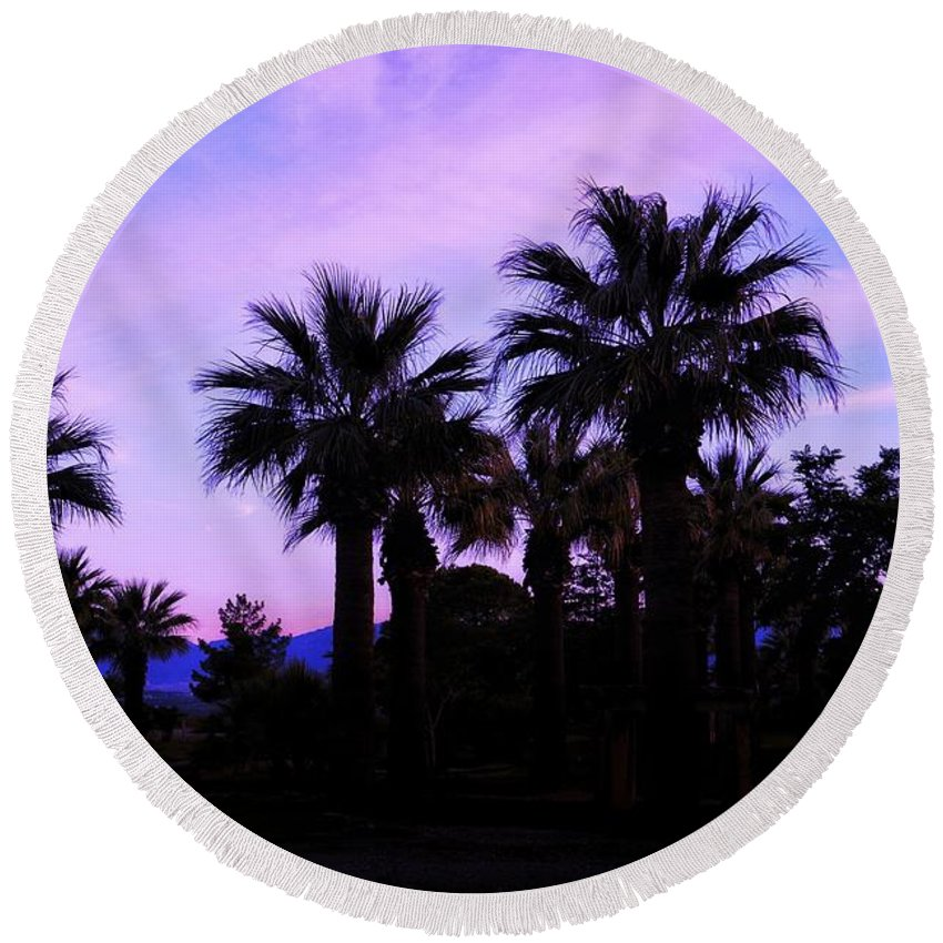 Round Beach Towel featuring the photograph Peaceful by Ferhat Sahin Kubra