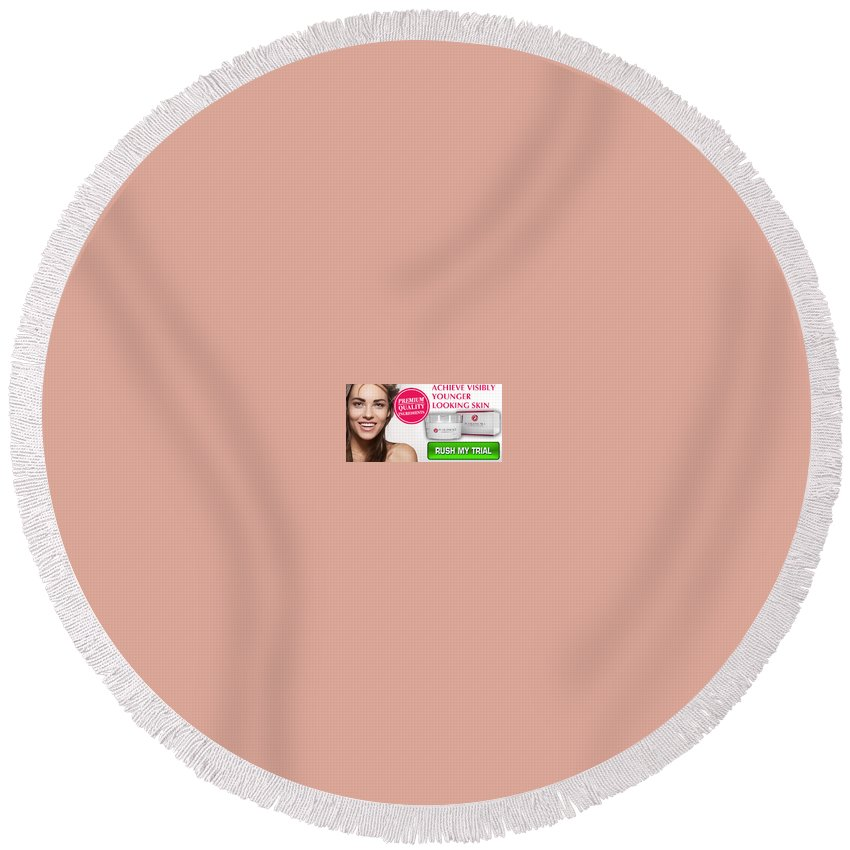 Pearl Essence Skin Cream Round Beach Towel featuring the digital art Pearl Essence Skin Cream by Pearl Essence Skin Cream