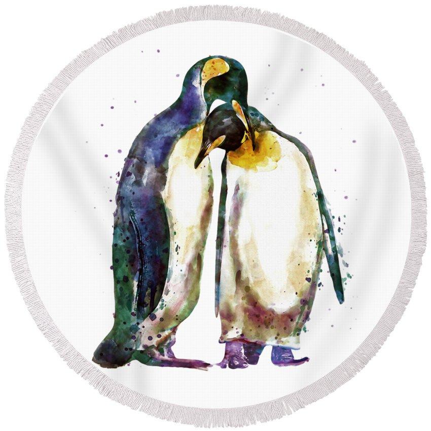 Penguin Round Beach Towels