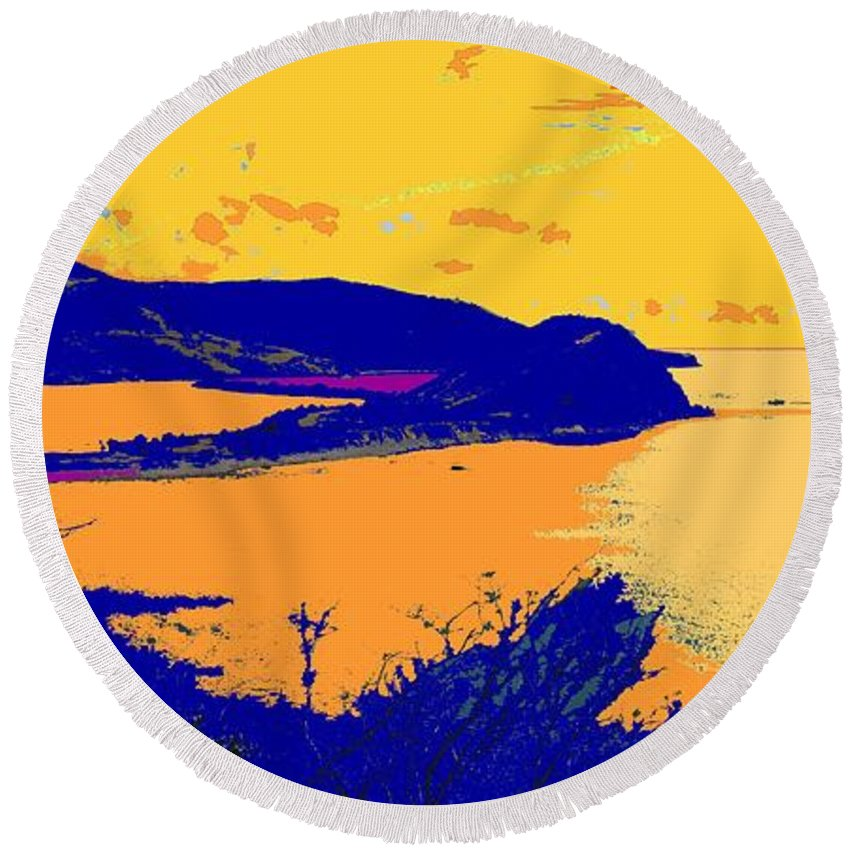 St Kitts Round Beach Towel featuring the photograph Peninsula Orange by Ian MacDonald