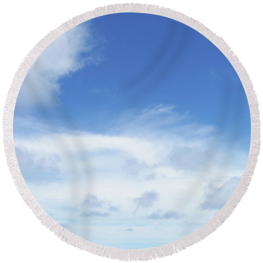 Blue Round Beach Towel featuring the photograph Perfect Day by JAMART Photography