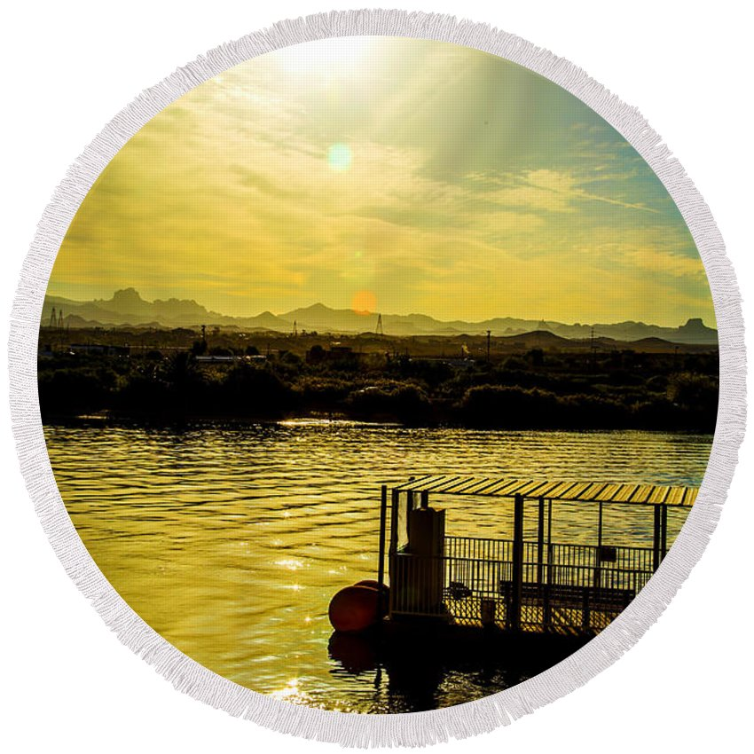 Round Beach Towel featuring the photograph Perfect Morning by James Busse