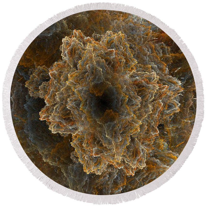 Fractal Round Beach Towel featuring the digital art Perfect Storm by Ron Bissett