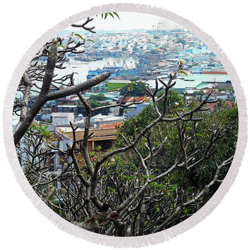 Phu My Round Beach Towel featuring the photograph Phu My 3 by Ron Kandt