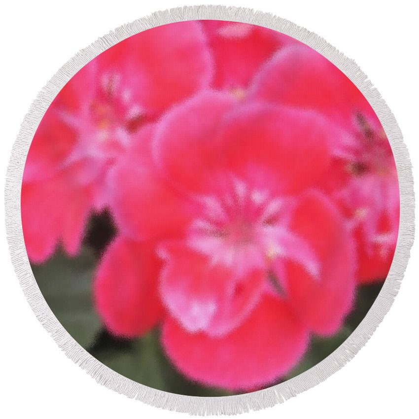 Pink Round Beach Towel featuring the photograph Pink by Ian MacDonald