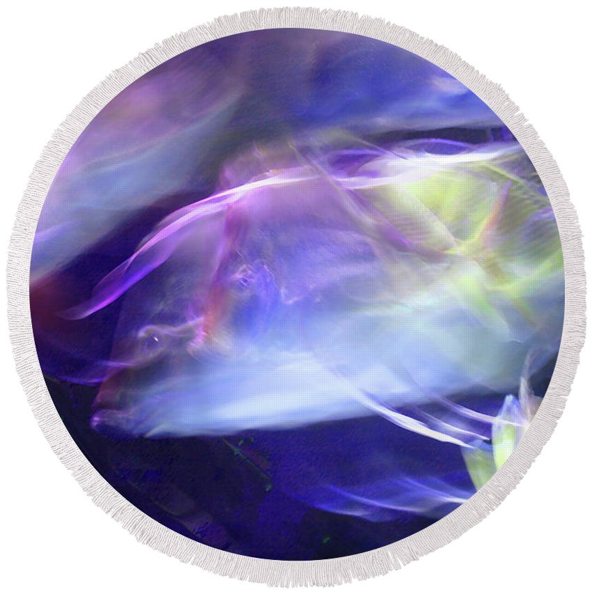 Abstract Round Beach Towel featuring the photograph Pisces by Steve Karol
