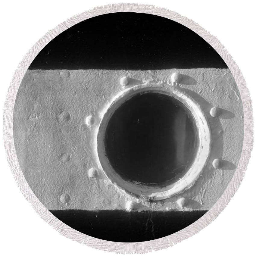 Porthole Round Beach Towel featuring the photograph Porthole by David Lee Thompson