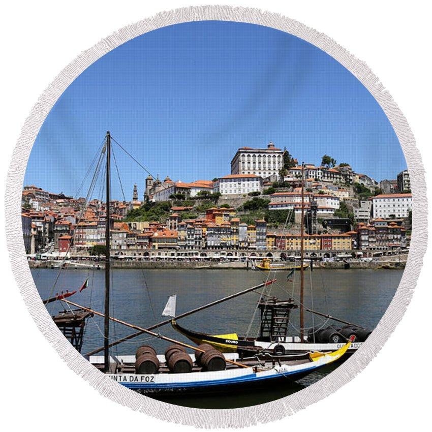 Porto Round Beach Towel featuring the photograph Porto 8 by Andrew Fare