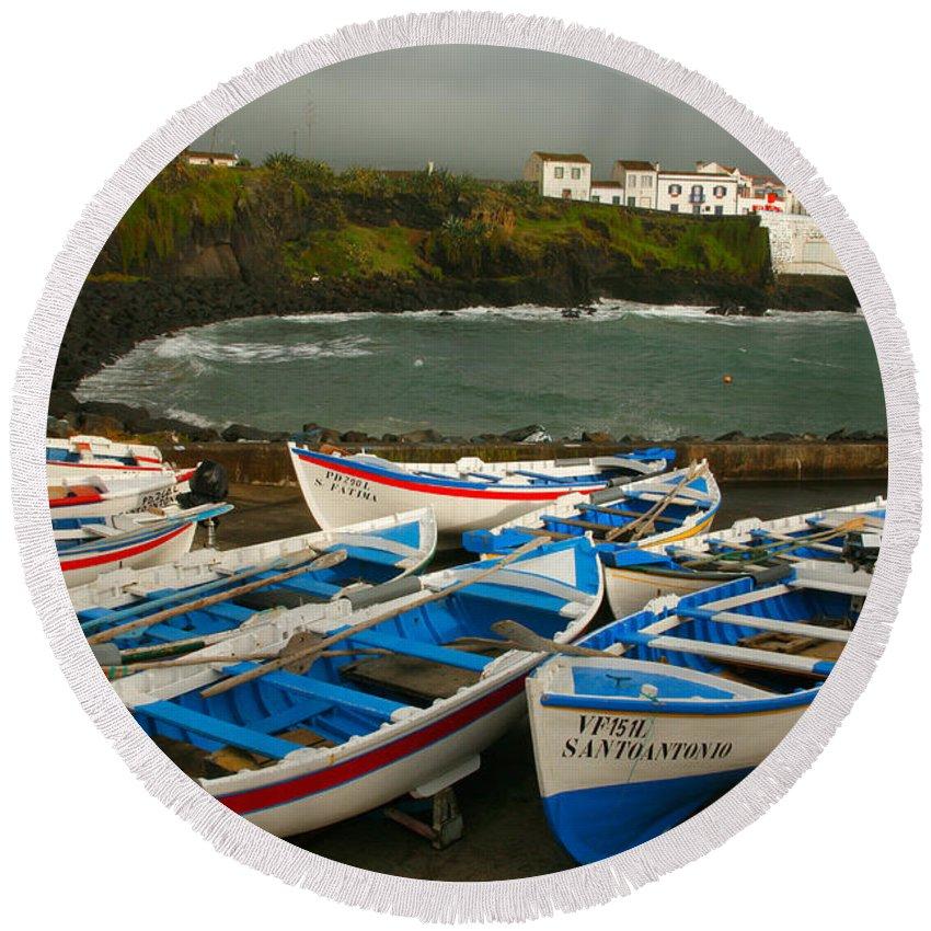 Coastal Round Beach Towel featuring the photograph Porto Dos Carneiros by Gaspar Avila