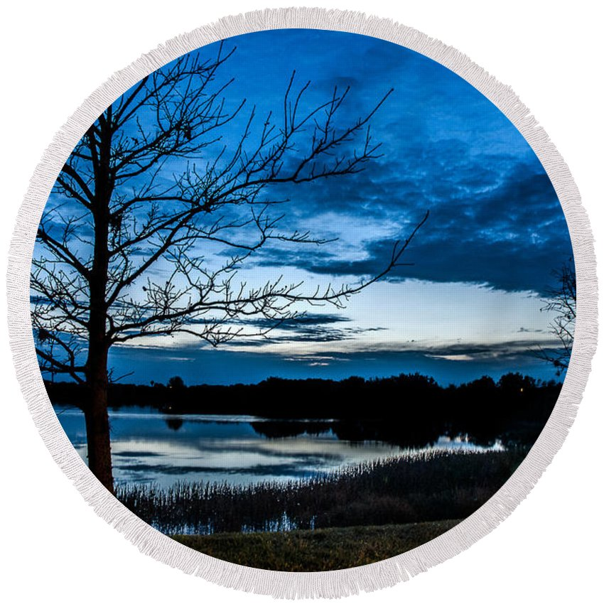 Sunrise Round Beach Towel featuring the photograph Pre-dawn Light by Norman Johnson