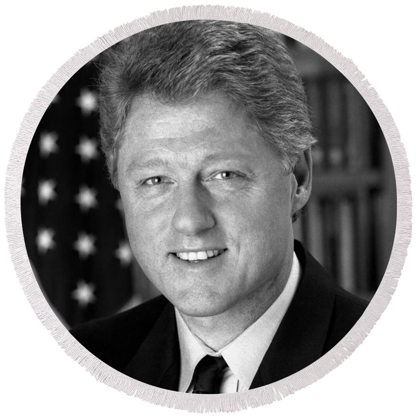 Bill Clinton Round Beach Towels