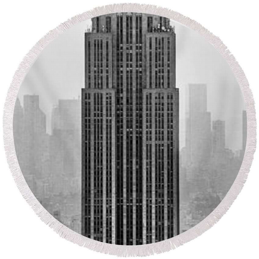 Empire State Building Round Beach Towel featuring the photograph Pride Of An Empire by Az Jackson
