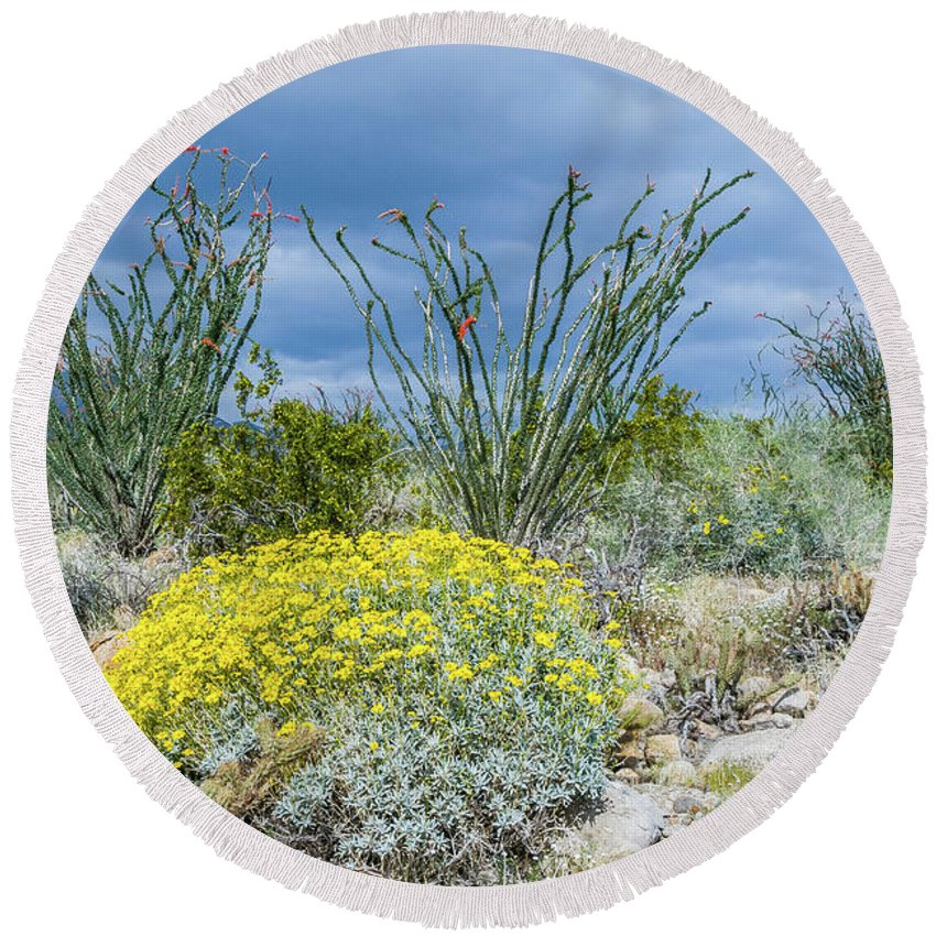 Wildflowers Round Beach Towel featuring the photograph Pucker Up by Jerry Sellers